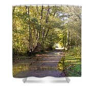 Country Lane In Autumn 3 Shower Curtain