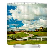 Country Living Painted Shower Curtain