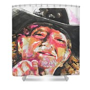 Country Music Artist...willie Nelson Shower Curtain