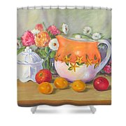 Country Pitcher With Sugar Bowl Shower Curtain