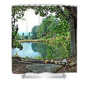 Country Pond Shower Curtain