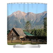 Country Ranch In Mountains Shower Curtain