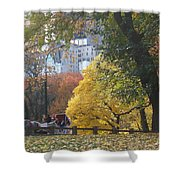 Country Ride In The City Shower Curtain