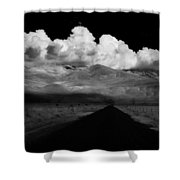 Country Road Shower Curtain by Cat Connor