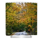 Country Road Fall Vermont Shower Curtain