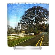 Country Road On Sauvie Island Shower Curtain