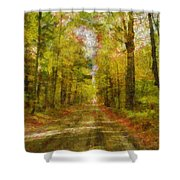 Country Road Take Me Home Shower Curtain