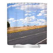 Country Road Shower Curtain by Tim Hester