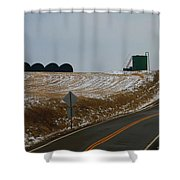 Country Roads In Holmes County Shower Curtain