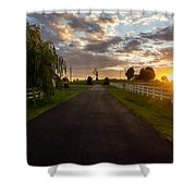 Country Setting Shower Curtain