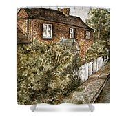 Old English Cottage Shower Curtain