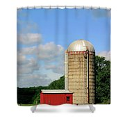 Country Silo Shower Curtain