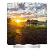Country Skies Shower Curtain