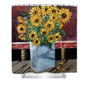 Country Still Life Shower Curtain