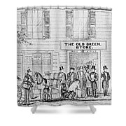 Country Store, 1847 Shower Curtain