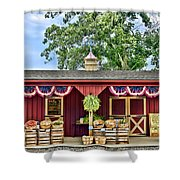 Vegetable Stand Shower Curtain