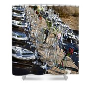 Country Table Setting Shower Curtain
