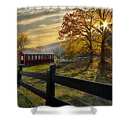 Country Times Shower Curtain by Debra and Dave Vanderlaan