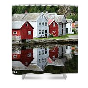 Country Town Shower Curtain