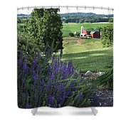 Country Valley Shower Curtain