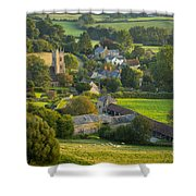 Country Village - England Shower Curtain