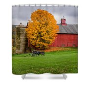 Country Wagon Square Shower Curtain