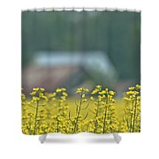 Country Yellow Shower Curtain