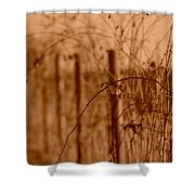 Countryside Fence Shower Curtain