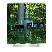 Countryside Mailbox #11 Shower Curtain
