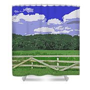 Countryside Scene Digital Painting Shower Curtain