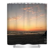 Couple At Sunset Shower Curtain