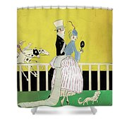Couple At The Races, 1916 Shower Curtain