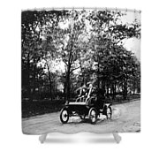 Couple Driving, C1907 Shower Curtain