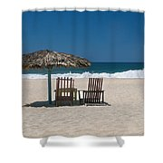 Couple In The Shade Shower Curtain