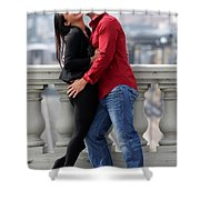 Couple Laughing Shower Curtain