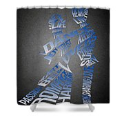 Couple Love Typography Shower Curtain