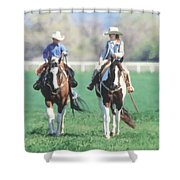 Couple Riding Shower Curtain