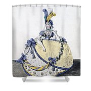 Court Dress, Fig. 106 From The Gallery Shower Curtain