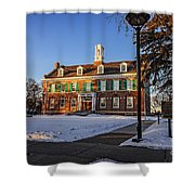 Court House In Winter Time Shower Curtain