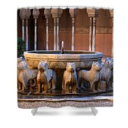 Court Of The Lions In The Alhambra Shower Curtain