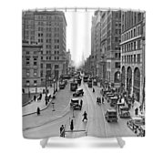 Court Street In Brooklyn  Shower Curtain