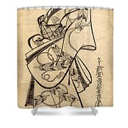 Courtesan For The Ninth Month Shower Curtain