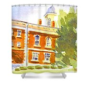 Courthouse In August Sun Shower Curtain