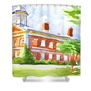 Courthouse In Summery Sun Shower Curtain