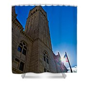 Courthouse Tower Shower Curtain