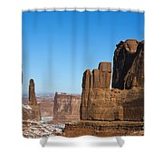 Courthouse Towers Arches National Park Utah Shower Curtain