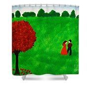 Courting Couple Shower Curtain