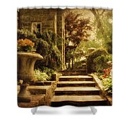 Courting Spring Shower Curtain