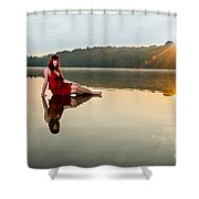 Courtney On The Water Shower Curtain