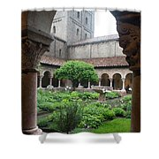 Courtyard At The Cloisters Shower Curtain